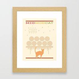 Mid Mod Cat Framed Art Print