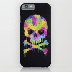Abstract Trendy Graffiti Watercolor Skull  Slim Case iPhone 6s
