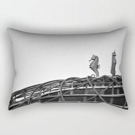 Vintage Seahorse Ride & Sign Rectangular Pillow