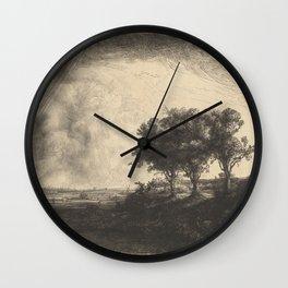The Three Trees Wall Clock