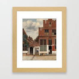 """Johannes Vermeer """"View on Houses in Delft (also known as 'The Little Street')"""" Framed Art Print"""