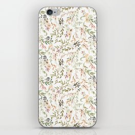 Dainty Intricate Pastel Floral Pattern iPhone Skin