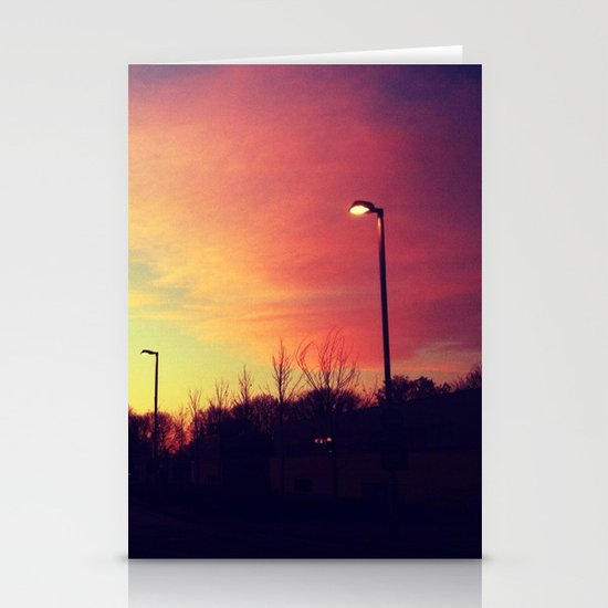 Sunrise series- Shade of light Stationery Cards
