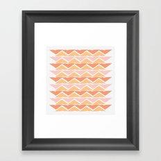 triangle sunset Framed Art Print