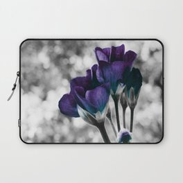 Flowers Violet Dark Teal Pop of Color Laptop Sleeve