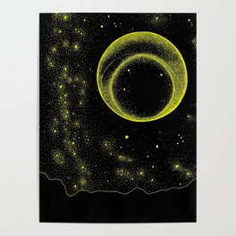The Universe in Neon Dots I Poster