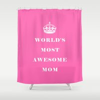 mom Shower Curtains featuring Mom by Beautiful Homes