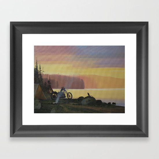 By the Fire  Framed Art Print