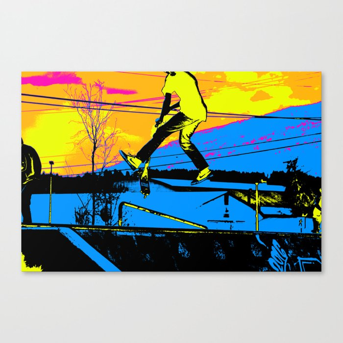 """""""Air Walking""""  - Stunt Scooter Canvas Print"""