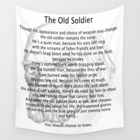 soldier Wall Tapestries featuring Old Soldier by Jason Olson