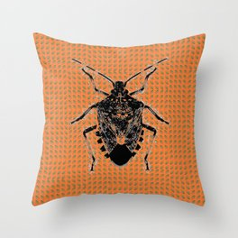 Bugged. Throw Pillow