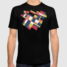 Map Matisse Stretched MEDIUM Mens Fitted Tee Black