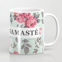 namaste Mugs featuring Namaste by Rambutan Designs