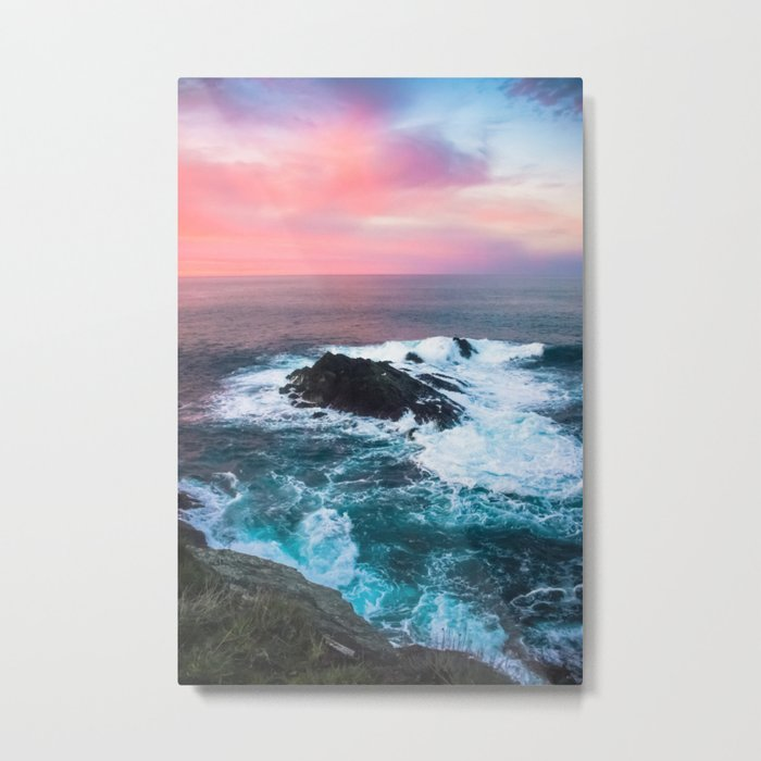 Sunset on the Bay of Biscay Metal Print