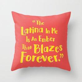 Latina Pride Throw Pillow