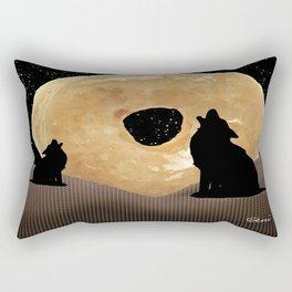 Donut Howl Rectangular Pillow