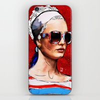sunglasses iPhone & iPod Skins featuring Sunglasses by Ed Pires