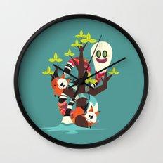 Fox Twins Wall Clock
