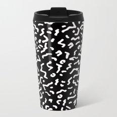 Retro Themed Repeated Pattern Design Metal Travel Mug