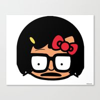 tina belcher Canvas Prints featuring Hello Tina by Hit_the_Marq