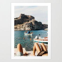 Slow Summer Day in Greece Art Print