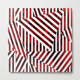 Striped Red Tiger Metal Print