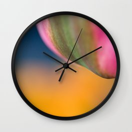 Pink tulip, colorfull background Wall Clock