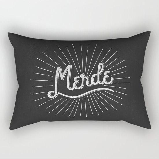 MERDE - NOIR Rectangular Pillow