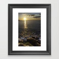 Coogee Cliff Sunrise Framed Art Print