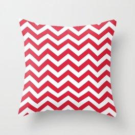 Red Chevron Pattern. Colorful zig zag stripe desig Throw Pillow