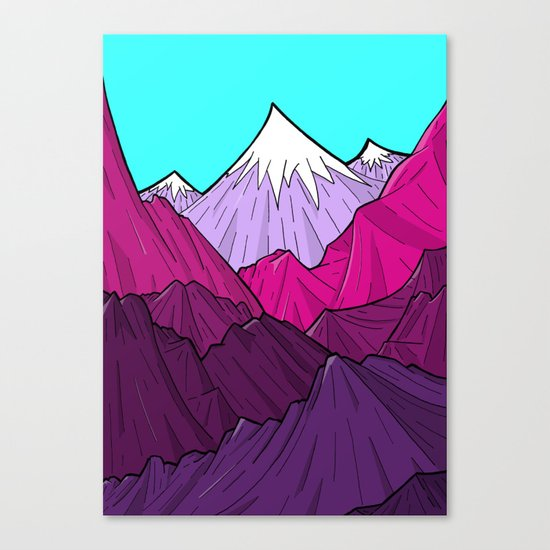 The Purple Mounts Canvas Print