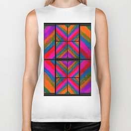 many colored angles Biker Tank