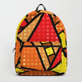Red, Yellow and Orange Geometric Abstract Backpack