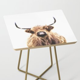 Highland Cow Portrait Side Table