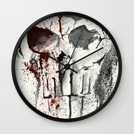 Red black Skull - Splatter Art Wall Clock