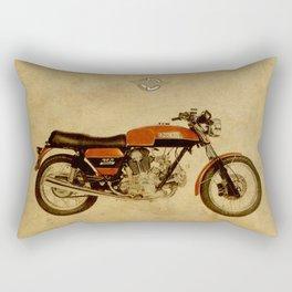 Ducati 750 GT 1973 - Vintage brown background Rectangular Pillow