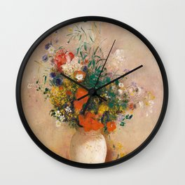 Odilon Redon - Vase of Flowers (1906) Wall Clock