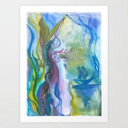 Magical seaweed Art Print