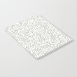 White Moroccan Tiles Pattern Notebook