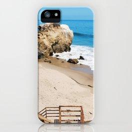 El Matador State Beach Stairs iPhone Case