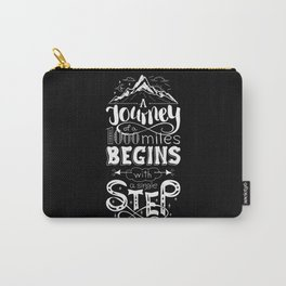 lettring quote journey Carry-All Pouch
