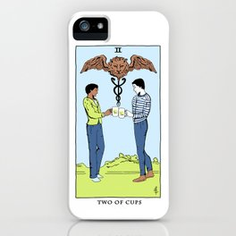 Community Tarot Card- Two of Cups iPhone Case