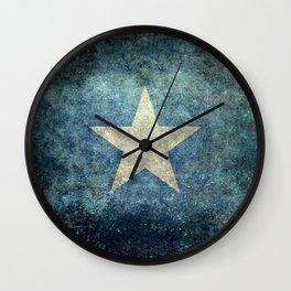 Flag of Somalia - Super Grunge version Wall Clock
