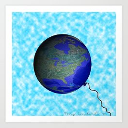earth balloon Art Print