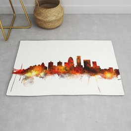 Louisville Kentucky City Skyline Rug