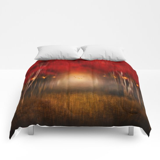 Red Melody Comforters