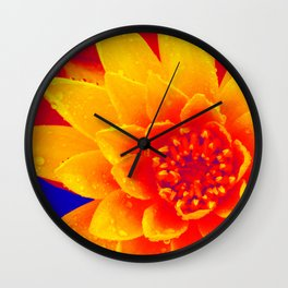 Water Lily of Primary Colors Wall Clock