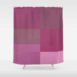 Pink Squares Shower Curtain