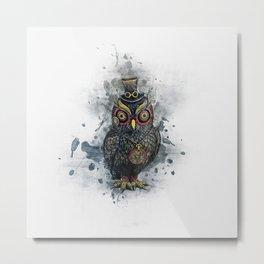 Steampunk Owl Metal Print