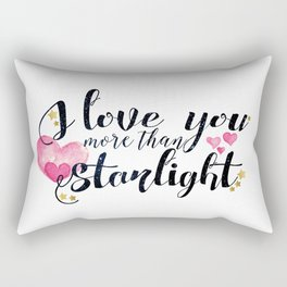 """""""I love you more than Starlight"""" Lady Midnight/The Dark Artifices by Cassandra Clare Rectangular Pillow"""